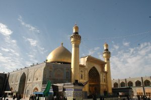 Ali ibn Abu Talib is buried in Najaf, Iraq, where annually millions of pilgrims from around the world of different faiths come to pay their respects.