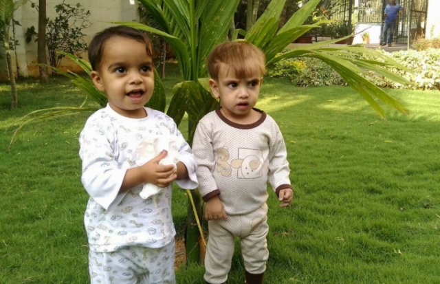 Hussain (2 years old) and Muhammad Hussain (2 years old)