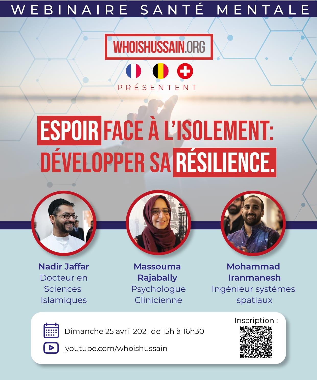Affiche Webinaire Sante Mentale Who is Hussain Suisse France Belgique