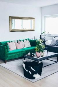 Unsere neue Wohnzimmer-Einrichtung in Grn, Grau und Rosa!