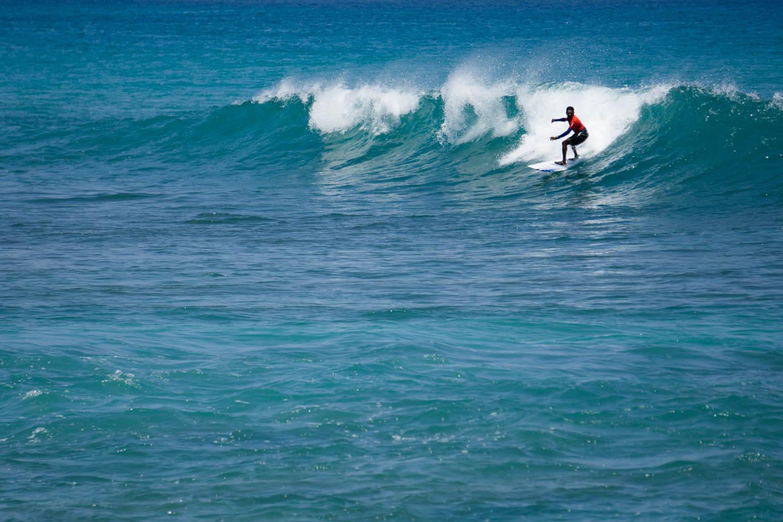 Surfing Hut bay little Andaman