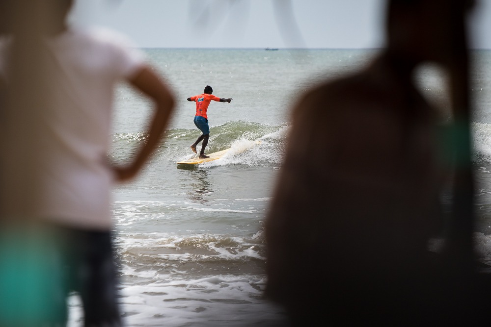 Longboarding at Covelong Point - Tamil Nadu, India