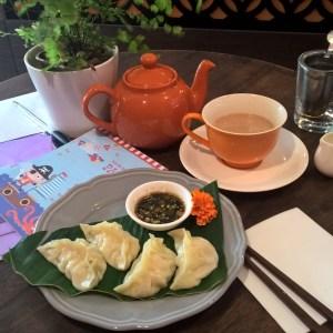 Tea-steamed dumplings at The Tea Project. Delish!