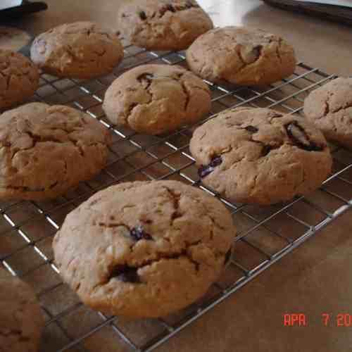 Peanut-Oatmeal Chip Cookies