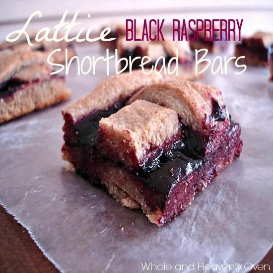 Lattice Black Raspberry Shortbread Bars