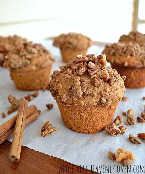 Coffee Cake Muffins | wholeandheavenlyoven.com