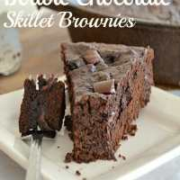 Fudgy Double Chocolate Skillet Brownies