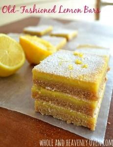 Old-Fashioned Lemon Bars | wholeandheavenlyoven.com