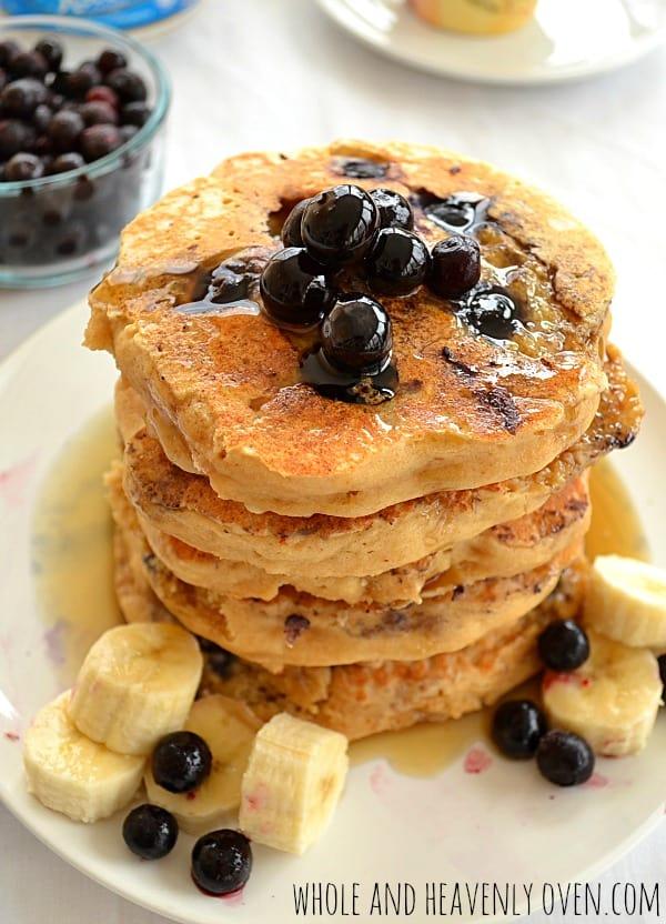 Blueberry Ricotta Pancakes3