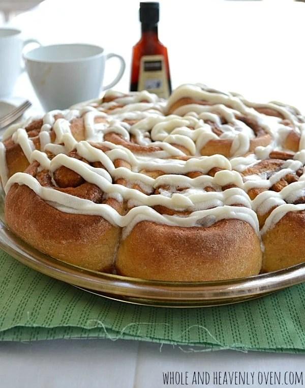 Fluffy Overnight Cinnamon Rolls | wholeandheavenlyoven.com