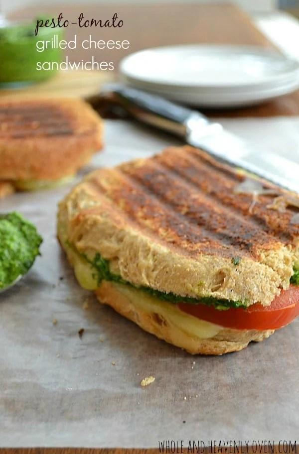 Pesto-Tomato Grilled Cheese Sandwiches10