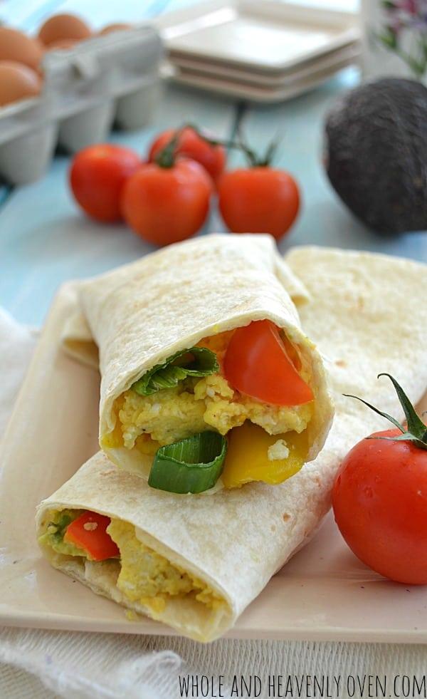 Loaded Veggie Breakfast Wraps   wholeandheavenlyoven.com