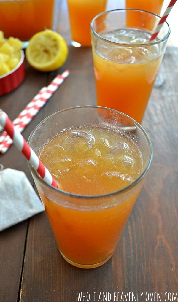 Tropical Iced Tea | wholeandheavenlyoven.com