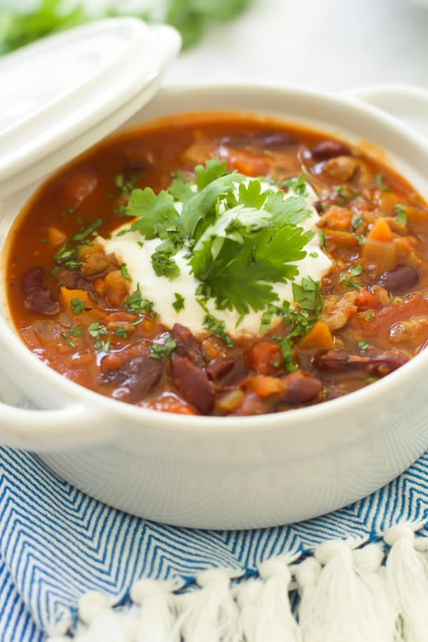 Extra-Lean Turkey Chili with Carrots + Turnips