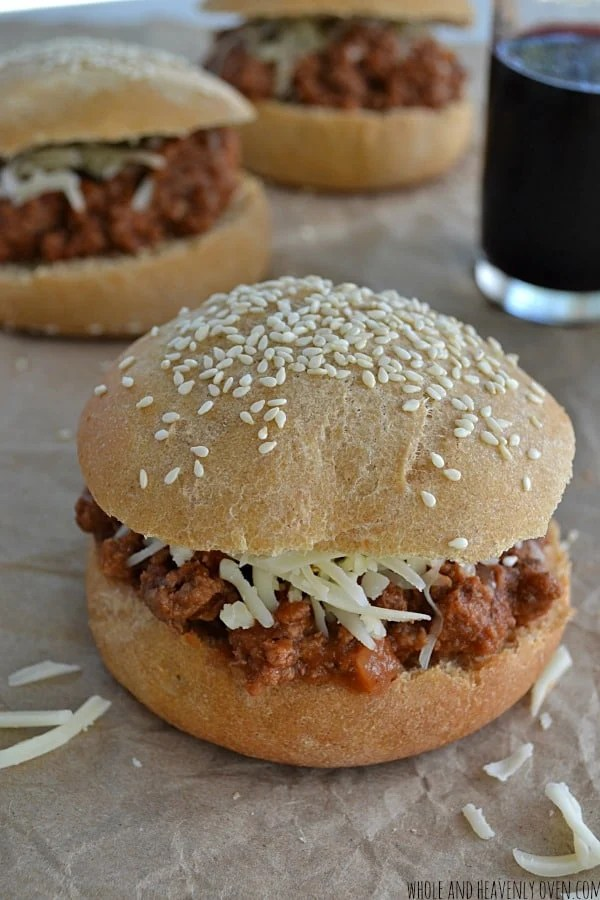 Slow-Cooked Sloppy Joes | wholeandheavenlyoven.com