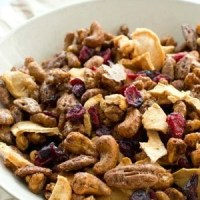 Candied Nut Cranberry-Apple Snack Mix