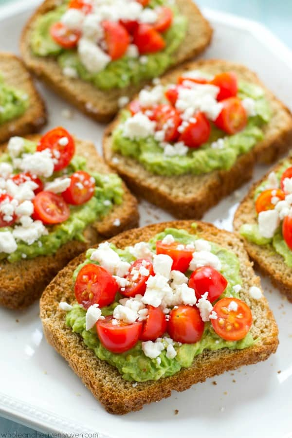 greek avocado toast with