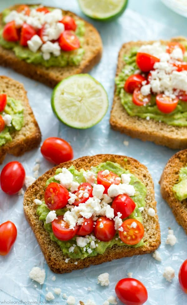 This greek-style avocado toast is quick and healthy enough for a filling weekday breakfast, but also fancy enough for any weekend brunch.---You'll never go back to regular old toast again!