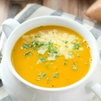 Cream of Sweet Potato Apple Soup