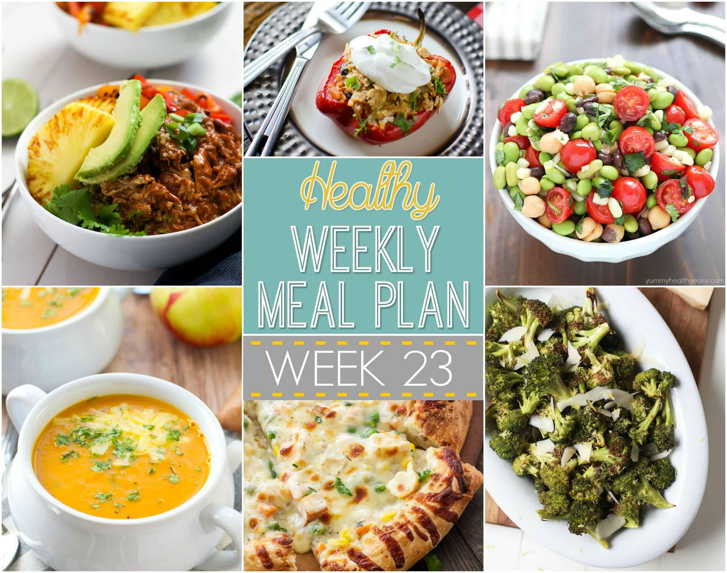 Healthy Weekly Meal Plan Week 23