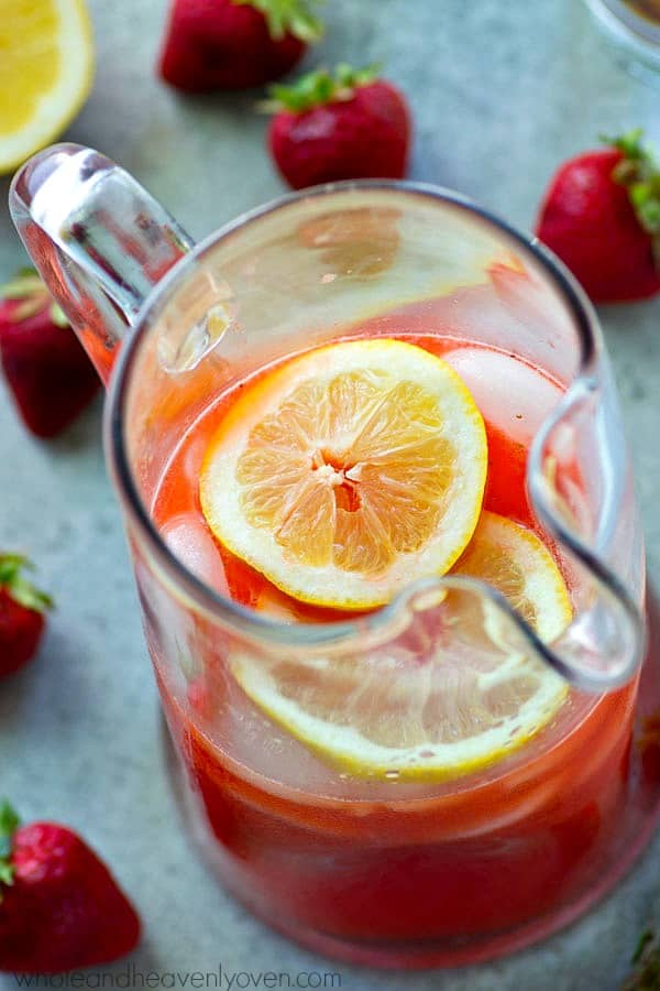 Pink Strawberry Lemonade Cocktail