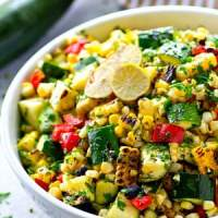 Charred Zucchini Sweet Corn Mexican Salad