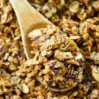 Peanut Butter Mocha Granola Clusters