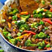 30-Minute Mongolian Beef & Vegetables Skillet