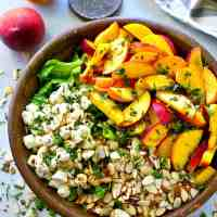 Summer Peach Balsamic Caprese Salad