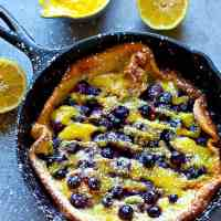 Blueberry Lemon Curd Dutch Baby