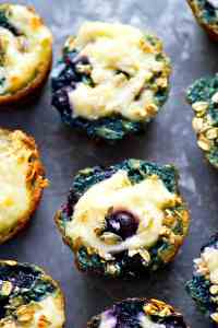 Need more grab 'n' go breakfasts on hand? These blueberry cheesecake oatmeal muffins are swirled with a luscious cream cheese, bursting with juicy blueberries, AND light on the calories!