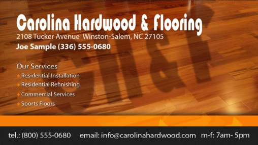 carolina hardwood business card - Flooring Business Cards