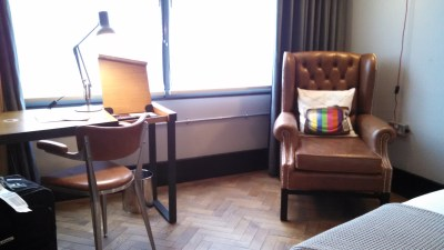 In-room desk and chair
