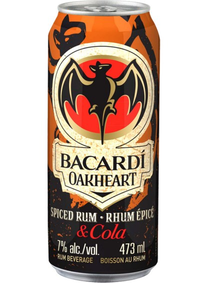 Bacardi Oakheart & Cola 473 ml