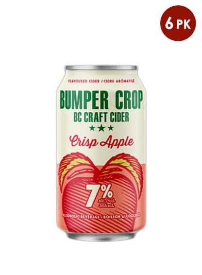 Bumper Crop BC craft cider Crisp apple 6 cans
