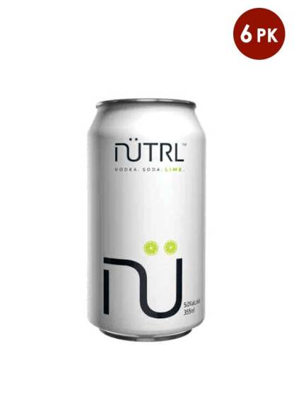 Nutrl VokdaSoda Lime 6 pack cans