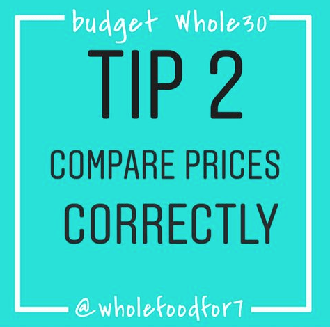 BUDGET WHOLE30 TIP #2