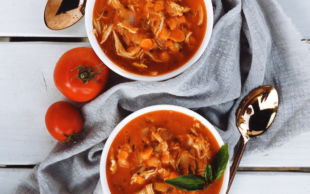 Whole30 Tomato Chicken and Basil Soup