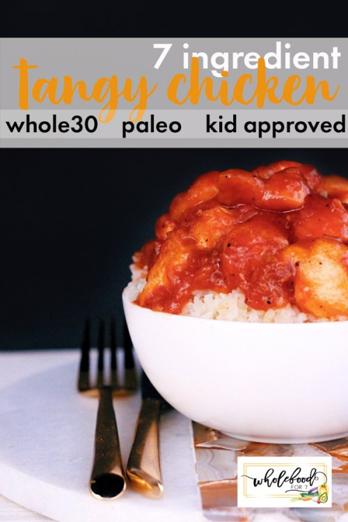 Whole30 Tangy Chicken - Paleo, gluten-free, dairy-free, 7-ingredient and a kid favorite!