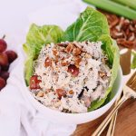 Whole30 Chicken Salad - This paleo, gluten-free, dairy-free Whole30 chicken salad is super easy! Only 6 ingredients and can be made with canned chicken. A great cold portable lunch option!