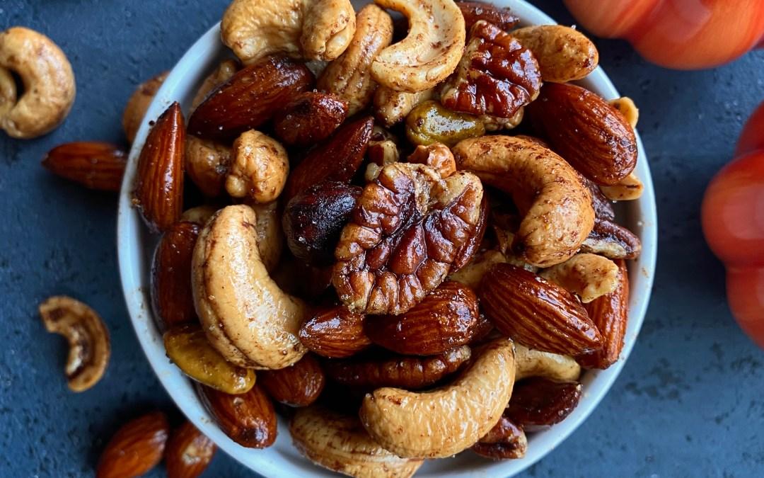 Pumpkin Spice Roasted Nuts