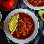 Whole30 Chili - Paleo, Keto, gluten-free, dairy-free, instant pot or stove, EASY!