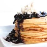 """Paleo """"Buttermilk"""" Pancakes with Blueberry Sauce"""
