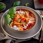 Whole30 Tomato Basil Chicken Soup - Paleo, Gluten-free, Dairy-free and can be made in the Instant Pot