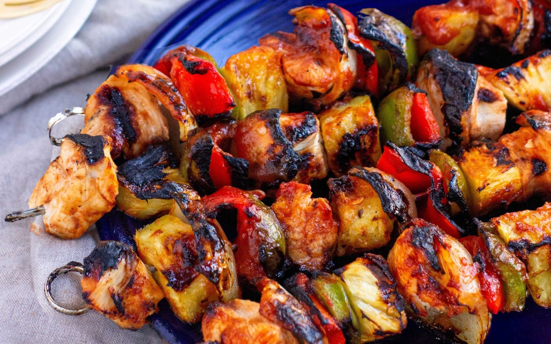Whole30 Chicken BBQ Pineapple Kabobs