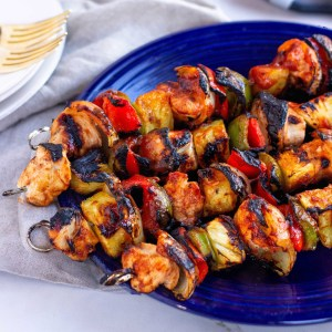 Whole30 Chicken BBQ Pineapple Kabobs - Paleo, gluten-free, dairy-free and airfry, grill or oven