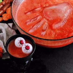Halloween Whole30 Severed Hand Punch - A fun festive drink that's always a hit!