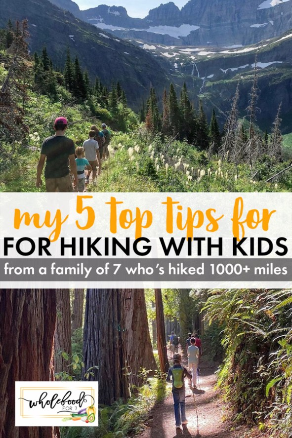 5 Top Tips for Hiking with Kids - From a family of 7 who's hiked 1000+ miles