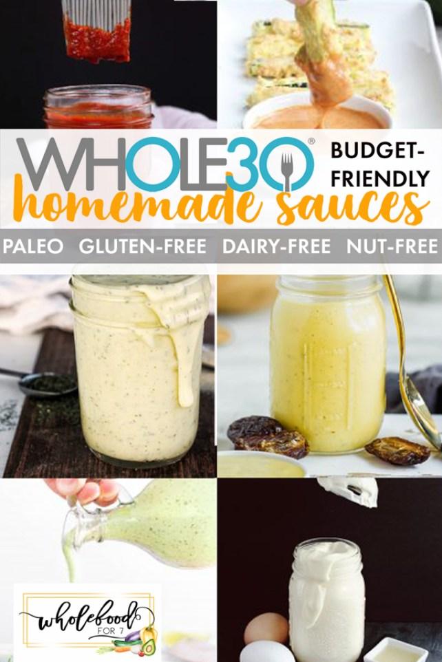 6 Budget-Friendly Whole30 DIY Sauces - Gluten-free, dairy-free, keto, Paleo