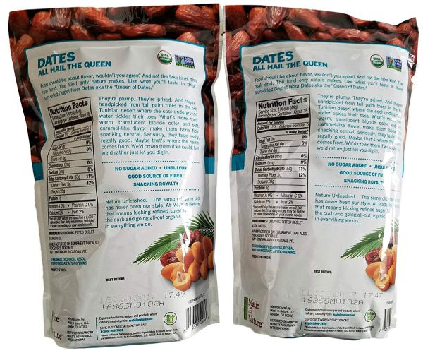 Made in Nature Organic Sun-Dried Deglet Noor Dates (2 pack)